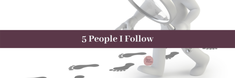 5 People I Follow In This Space